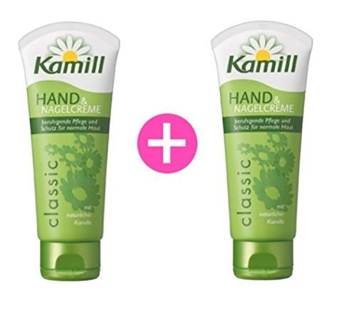 kamill Hand and Nail Cream Classic with Natural Chamomile 3.3 Oz 100 Ml (Pack of 2)