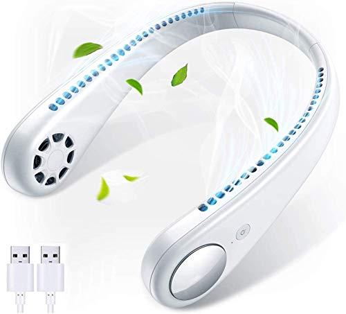 Neck Fan Portable Bladeless Fan Handsfree Fan USB Charged Mini Fan Portable 360° Cooling Hanging USB Personal Fan for Women