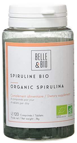 Belle&Bio - Spiruline Bio - 420 Mg/Gélule - Anti-Fatigue - Certifié Bio Par Ecocert - Fabriqué en France
