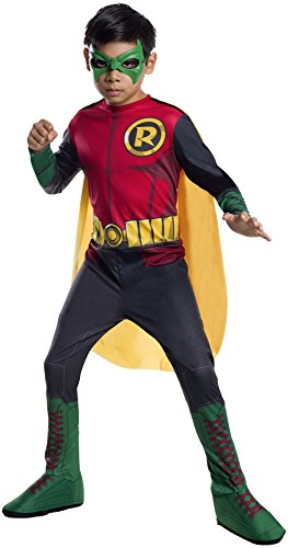 DC Superheroes Robin Costume, Child's Medium by Rubie's Costume Co