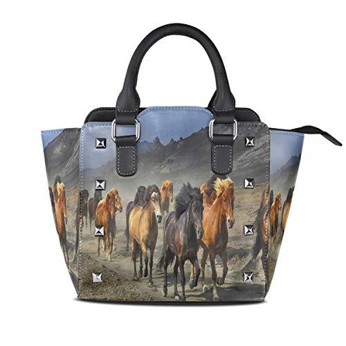 Damen Handtasche / Umhängetasche mit Pferdemotiv