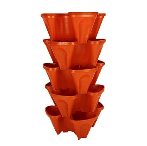 Large Stackable Planters (Terra-Cotta) Out Door graden. DIY Vertical...