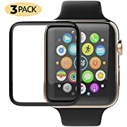 Apple Watch Screen Protector 2 Pack HD Clear Anti-Scratch Anti-Bubble Soft Durable Film Compatible with Apple iWatch Series 1/2/3-38mm