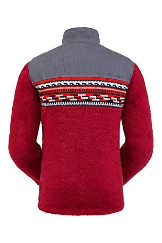 Spyder Herren Fleecejacke Wyre Half Snap Sweater, Herren, Wyre Half Snap Fleece Jacket, Napa, XX-Large