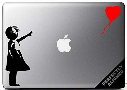 Vinyl Decal - Banksy Stijl Meisje met De Ballon voor Macbooks, Laptops, Auto's, enz.