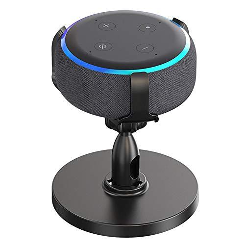 waysad Intelligenter Lautsprecher-Ständer, 360° verstellbar, mit Silikonmatte Echo Dot 3. Halterung für Echo Dot 3. Auslass Wandhalterung
