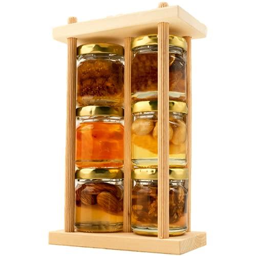 FOODOKO FINEST - Akazienhonig Set Honig Geschenkset aus 6 verschiedenen naturbelassenen Blütenhonigen verfeinert mit Nüssen und Früchten 240g (6x40g) ideal als Geschenk oder als Probierset