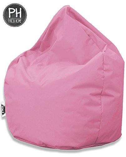 Patchhome Sitzsack Tropfenform - Rosa für In & Outdoor XL 300 Liter - mit Styropor Füllung in 25 versch. Farben und 3 Größen