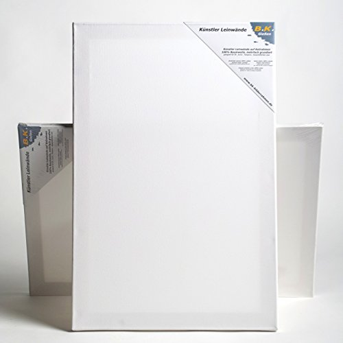 BK BILDERRAHMEN KOLMER 2 B.K. Plus LEINWÄNDE AUF KEILRAHMEN 80x100 cm | Premium Malgrund, malfertig, 100% Baumwolle