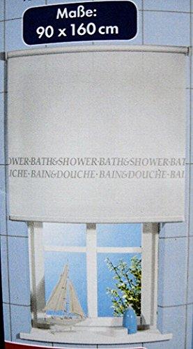 Unbekannt Seitenzugrollo 90 x 160 cm, weiß, Blickdicht, für Bad WC Dusche, Sichtschutz