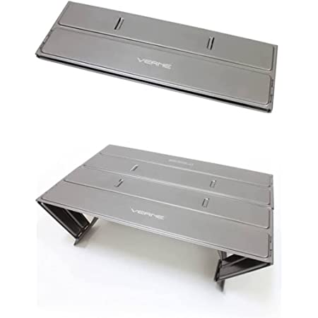 VERNE ベルン トレッキングパッド チタニウムグレー アウトドア アルミ ローテーブル コンパクト