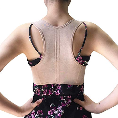 isermeo Fascia Correttore Posturale Dritta Schiena [Versione 2.0], Correttore Postura Spalle Tutore, Posturale Correzione Corsetto, Body Sculpting Vest Prevenire Seno Cascante per Donna (XL)