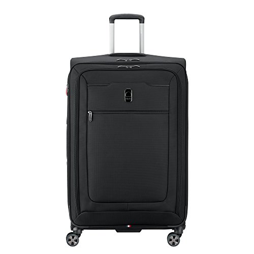 DELSEY Paris Hyperglide Softside Expandable Luggage with Spinner Wheels, Black, Checked-Large 29 Inch