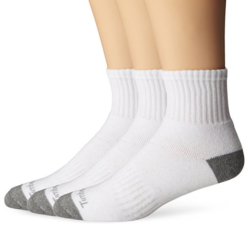 Timberland Men's 3-Pack Quarter Top,White,Sock Size:10-13/Shoe Size: 6-12(Shoe size 9-12)