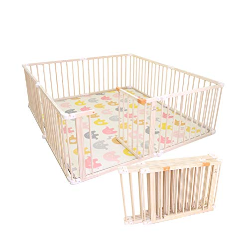 Best Review Of Kids' Balance Bikes Baby Playpen Foldable Wooden Frame, Safety Game Playpen Activity ...