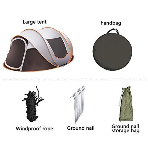 HYQW Camping Tienda Carpa Portátil Completamente Automática para 5-8 Personas, Carpa Familiar De Viaje Al Aire Libre Ventilación Camping Tienda