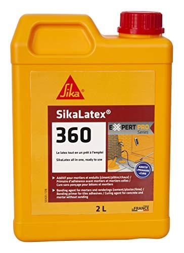 Sika SikaLatex 360 - Aditivo para mortero y hormigón, primario y producto de curación, 2 l