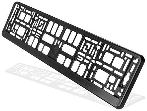 Hightecpl Kennzeichenhalter 2er Set Schwarz Stabil Witterungsbeständig Nummernschildhalter Pkw Kennzeichenhalterung Nummernschildhalterung (2 Stück)