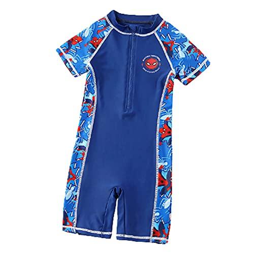 GJZhuan Kids Swimwear Spiderman Swimsuit Boys Girls One Piece Swim Skad Seco Quick Beach Ropa De Playa Piscina Surfsuit Nios Superro Sunsit Natacin Disfraz,Blue-KidS/2XL/140~155cm