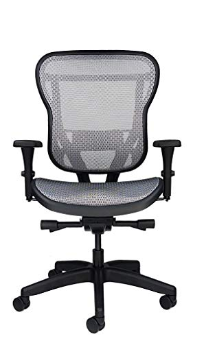 Oak Hollow Furniture Aloria Series Office Chair Ergonomic Executive Computer Chair Mesh Seat and Backrest, Adjustable and Comfortable, Lumbar Support Swivel and Tilt (Non-Headrest, Gray)