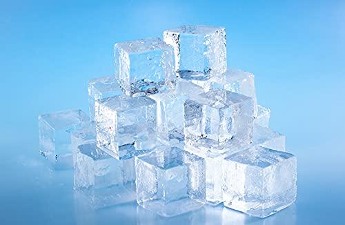 四国アイス キューブアイス Lサイズ 1.0kg 1袋 (40mm角 約20個入り) ロックアイス ウイスキー 梅酒 水割り バー キャンプ 四角い氷 家飲み ニッポンストア高知