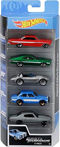 Hot Wheels - Fast and Furious Pack de 5 coches de juguete para niños
