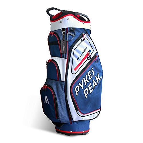 【公式】 PYKES PEAK「パイクスピーク」ゴルフバッグ【軽量 2.4kg 全6色 14本収納】 キャディーバッグ (カートタイプ【47インチ対応/9.5 型】 ゴルフ カートバッグ メンズ レディース 日本初上陸 PP-02-SERIES【WHITE
