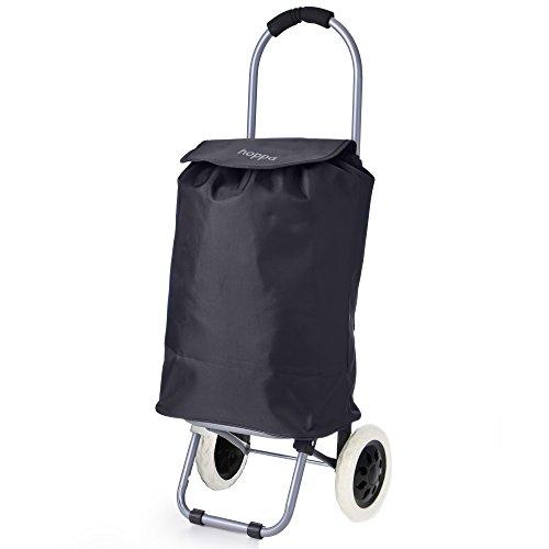 Hoppa Compact Mini Folding Lightweight 35L Shopping Trolley Bag 2 Wheels (Black ST01)