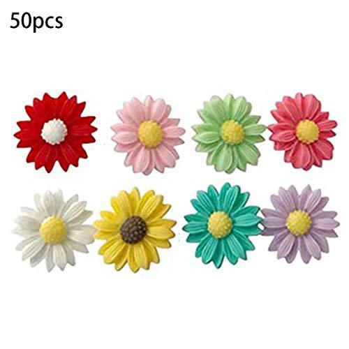 taishan 50PCS Dekorative süße Daumenstifte ThumbNails PushPins Push Pins Soft Flat für P.