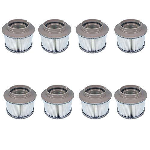 Dasing 8 Stück/Lot für MSPA Ersatzfilter Pack x 8 aufblasbare Wannen halten für MSpa Filter Wasserfilter Kartuschen