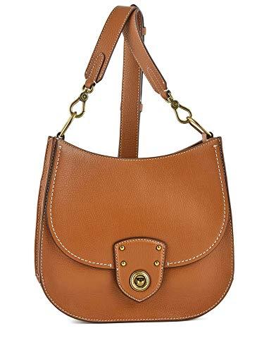 Lauren Ralph Damen Millbrook Leder Crossbody Bag - Tan