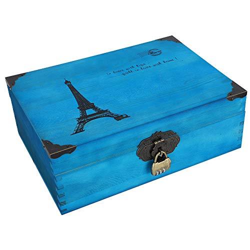 Caja De Almacenamiento, Caja De Almacenamiento De Madera Fuerte Y Firme Para Documentos Para Cosméticos