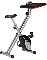 Ultrasport Unisex F-Bike Advanced Heimtrainer, LCD-Display, klappbarer Hometrainer, verstellbare Widerstandsstufen, mit Handpulssensoren, faltbarer Fahrradtrainer, für Sportler und Senioren