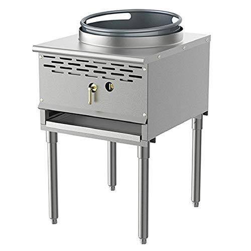 Pantin (Propane Gas) 13' Cast Iron Chamber Gas Compact Single Burner Commercial Restaurant Wok Range - 128,000 BTU