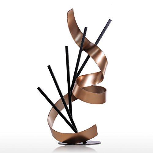 Tooarts Línea y Cinta Escultura Abstracta para Oficina Casa