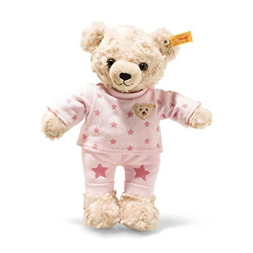 Steiff 109898 Teddybär, hellblond/rosa, 27 cm
