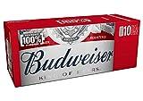 Budweiser Cerveza American Lager - Pack de 10 Latas x 33 cl - 4,8% Volumen Alcohol