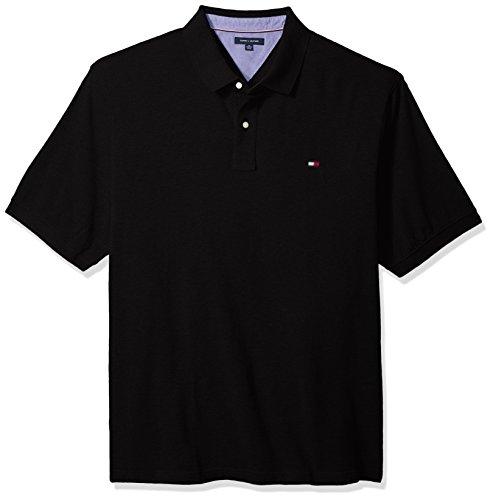 Tommy Hilfiger Herren Poloshirt Big and Tall Ivy - Schwarz - 5X-Large Hoch
