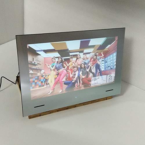 KUVASION 24 Inches Waterproof Smart Mirror TV for Bathroom, Smart Bathroom Mirror TV, RJ45, WIFI, HDMIx3, Built-in Speaker 5Wx2, IP65 Bathroom Mirror TV, Wall Box included