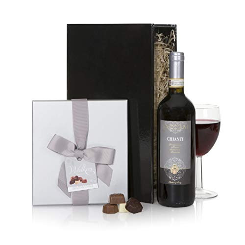 Luxury Wine & Chocolates Hamper- Gift Box Hampers - Chianti Red Wine & Chocolates - The Perfect Gift Hamper For Him Or For Her