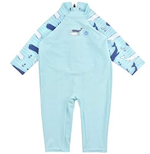 Splash About Baby UV all-in-One Sunsuit, Vintage Moby, 3-6 Months