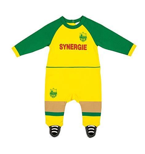 FC NANTES Baby Strampler Trikot Offizielle Kollektion 6 Monate gelb
