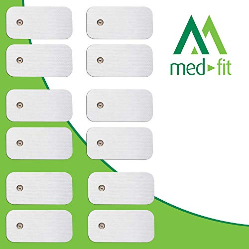 MED-FIT 5x10cm Flexi iSTIM 12 x 3.5mm Stud (tipo snap/boton) TENS Almohadillas autoadhesivas encajan con BEURER, SANITAS y VIRTUALMENTE todas las Maquinas de masaje TENS en Amazon