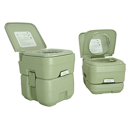 PARTYSAVING 2.6 Gallon Travel Outdoor Camping Boat Portable Toilet Potty, APL1013