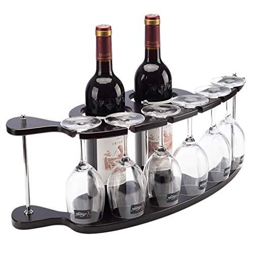 WJCCY Estante de Vino de Madera Estante de Vino Creativo Estilo Europeo UVA Madera sólido Estante de Vino Rack de Vino Rack al revés Decoración del gabinete del Vino