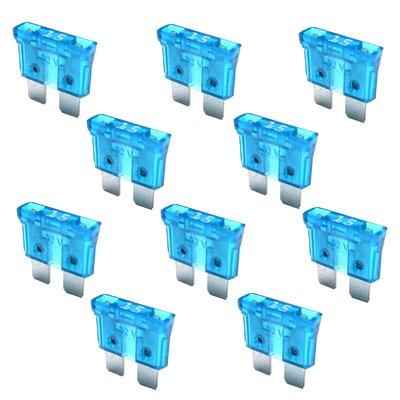 10 x Flachstecksicherung - Sicherung 15A / 32V / blau
