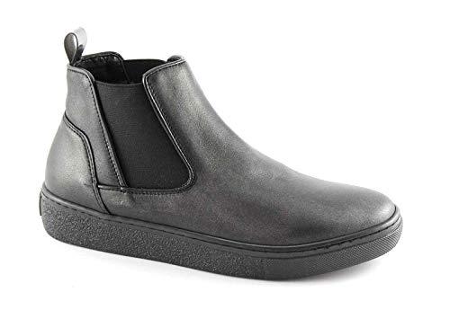 Grunland NIQU PO1606 Schwarze Schuhe Mitte Beatles elastische Kinder Plattform 41
