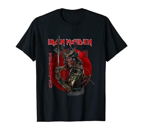 I.ron Maiden - S.enjutsu Eddie T-Shirt Red Circle T-Shirt