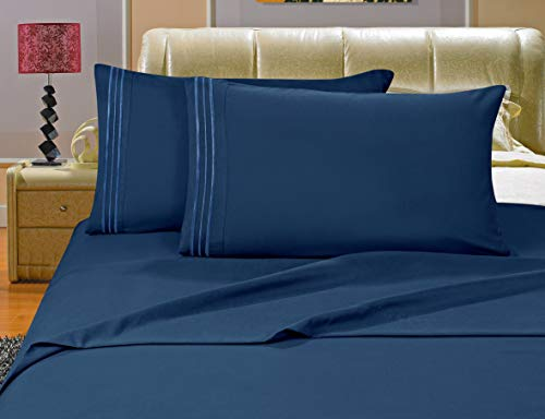 Elegant Comfort 1500 Thread Count Egyptian Quality 4-Piece Bed Sheet Sets with Deep Pockets, Queen, Turqouise