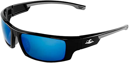 Bullhead Safety Eyewear BH95129AF Temple Dorado, Anti-Fog Lens, Black TPR Nose, 2